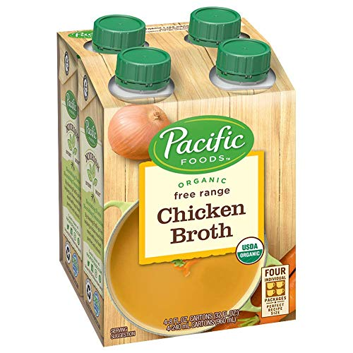 Pacific Foods Organic Free Range Chicken Broth, 8oz, 24-pack -