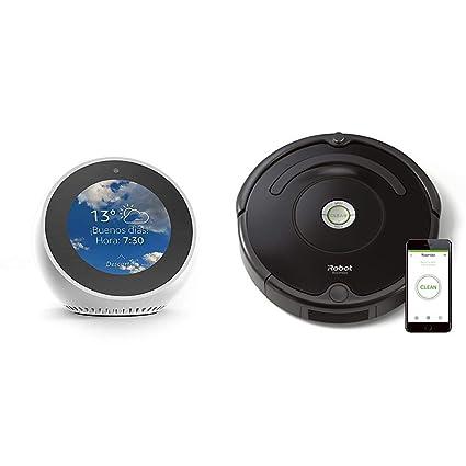 Echo Spot blanco + iRobot Roomba 671 - Robot aspirador suelos ...