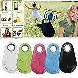 Mini Bluetooth Smart Alarm Device GPS Tracker Child Pet Bag Wallet Key Phone Finder (Black)