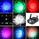 Party Lights Disco Ball-Vnina 7 Colors Ocean Wave Projector Effect Light Lighting Show for Parties Decoration DJ Club Karaoke Holiday Wedding Chrismas (Black) from Vnina