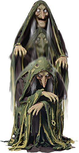 [Swamp Hag Rising Animated Halloween Prop Witch Haunted House Yard Scary Decor] (Halloween Animatronics)