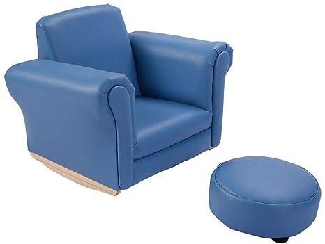 Amazon.com: GHP 110-Lbs Capacity Kids Blue Wood Sponge & PU ...
