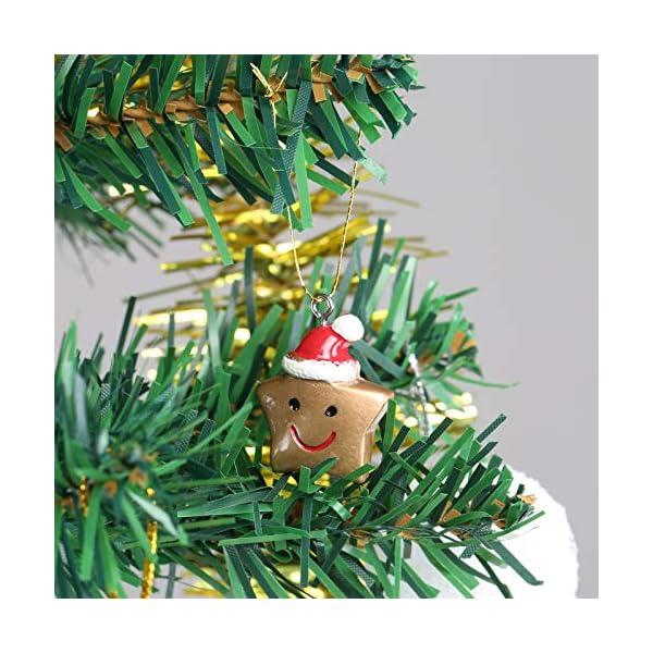 Naler 24pcs Christmas Fascino del Pendente, Fascino della Resina del Pupazzo di Neve dell'alce del Babbo Natale per l'ornamento della Decorazione di Natale DIY Craft 6 spesavip