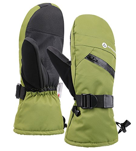 Andorra Men's Thinsulate Cotton Cross Country Ski Mittens, Moss Green, L/XL