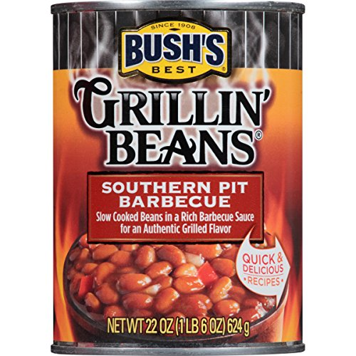 BUSH'S BEST Southern Pit Barbecue Grillin' Beans, 22 Ounce Can (Pack of 12) (Best Barbecue Baked Beans)