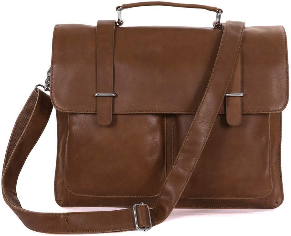 Bxfdc Briefcase Business Mens Handbag Shoulder Messenger Bag Computer Bag Color : Brown