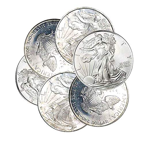 - 1987-1993 American Silver Eagle Toned Spots 1 Coin $1 Circulated