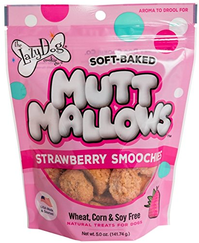 The Lazy Dog Cookie Co. Lazy Dogs Mutt Mallows Soft Baked Dog Treats Strawberry Flavor 5 oz bag