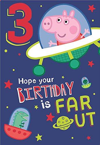 Nuevo Peppa Pig - George edad 3 Tarjeta de cumpleaños ...