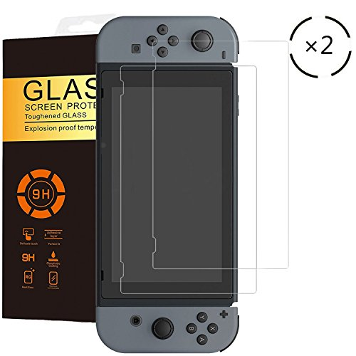 Buy cheap uthmne pack nintendo switch screen protector tempered glass slim and hardness bubble free anti fingerprint