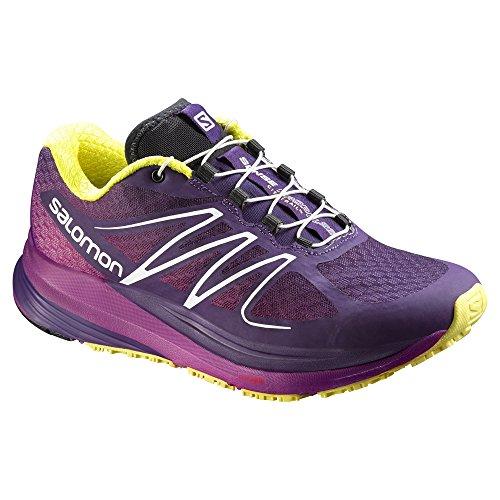 Salomon Sens Propulse Femmes Chaussures De Course - Ss16 Cosmique Violet / Azalée Rose / Jaune Corona