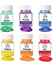 Micas Powder Pigments - Soap Colorants Set - 6 Colors (0.7 oz each) Soap Dye - Mica Powder for Bath Bombs - Soap Making Supplies - Candle making Eye Shadow Blush Nail Art Resin Jewelry Craft