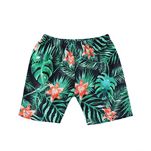 ❤️ Mealeaf ❤️ Toddler Kids Baby Boys Stripe Swimming Board Shorts Summer Beachwear Short Pants(Green,100)