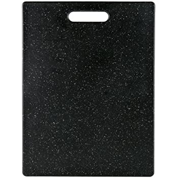Dexas Grippboard Cutting Board with Non-Slip Feet, 11 by 14.5 inches, Dark Granite pattern and Black