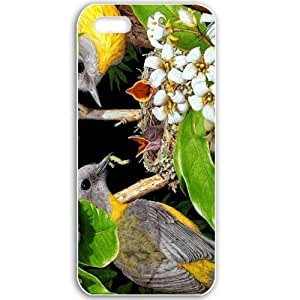 Apple iPhone 5 5S Cases Customized Gifts For Animals bird pair Animals Birds White