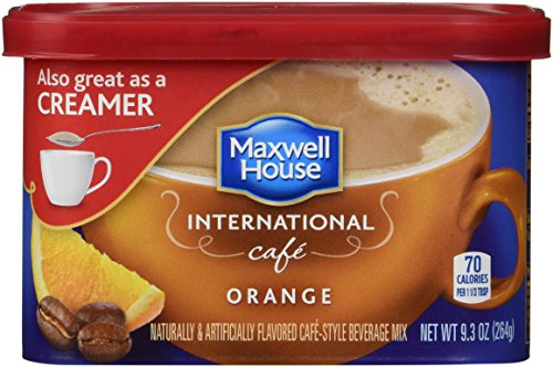 Maxwell House International Coffee Orange Caf?, 9.3-Ounce Cans (Pack of 6)