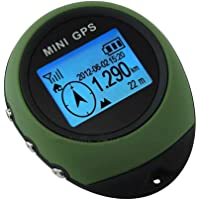 TIANG Mini Navigation GPS Portable/Récepteur Portable avec Porte-clés pour la randonnée, la Chasse, Le Camping, Les Aventures Sportives en Plein air