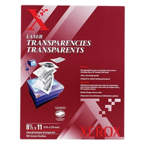 Xerox Clear Laser Transparency Film 8.5x11-Inches, Box of...