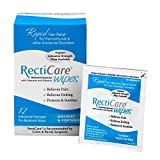 RectiCare Medicated Anorectal Wipes – 5% Lidocaine & Glycerin – 12 Pack