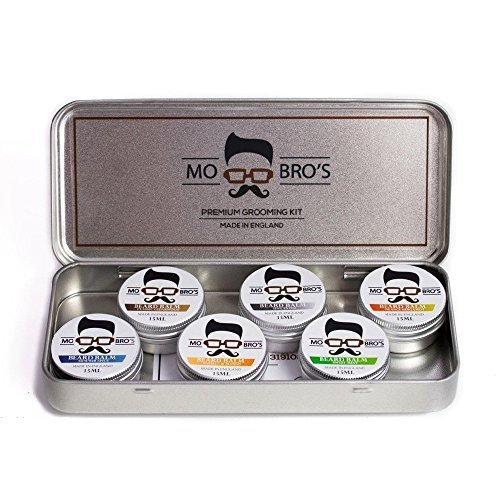 Mo Bro's - Beard Balm Collection Gift Set 15ml (6 Different Scents Per Tin) by Mo Bro's Grooming Co.