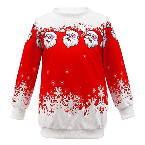 Kids Merry Christmas Santa Claus Costume Ugly Long
