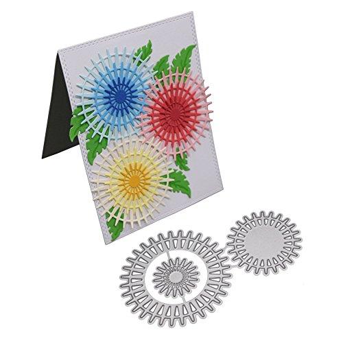 Wenjuan DIY Snowflake Metal Cutting Die-Cuts Stencil Decorative Borders Handcraft Tool Scrapbooking Album Paper Card (F)