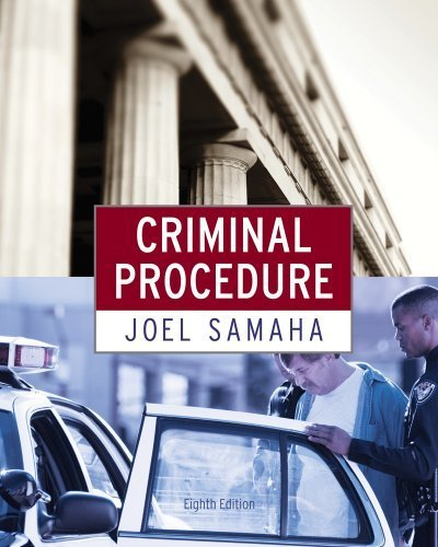 Criminal Procedure 8th edition by Samaha, Joel (2011) Hardcover
