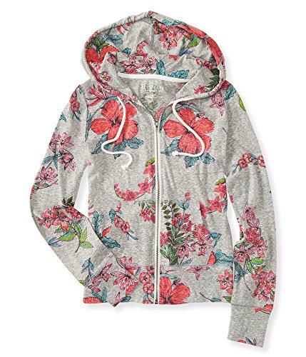 Aeropostale Women's Tropical Floral Full-Zip Hoodie 2Xl Patina