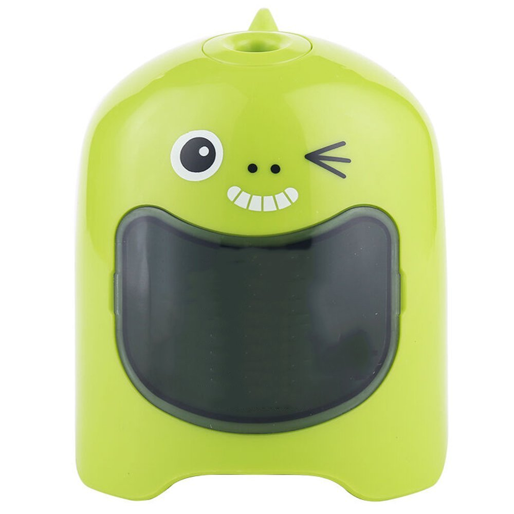 MyLifeUNIT Automatic Pencil Sharpener, Cute Electrical Pencil Sharpener for School Office Supply (Green)