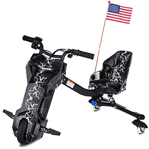 BLITZART APEX Electric Drifting Trike Ride On Car Powered Tricycle Scooter for Kids (Black)