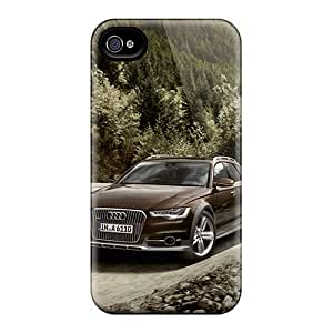 Tpu Shockproof/dirt-proof Audi A6 Allroad Cover Case For Iphone(4/4s)