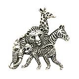 Sterling Silver Safari Animals Pin