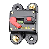 MagiDeal 100 Amp Manual Reset Circuit Breaker Switch 12V 24V Car SUV Marine Boat