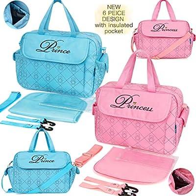 Mummy Baby Nappy Changing Bag Mat Shoulder Handbag Prince Boy Girl Diaper Bag UK