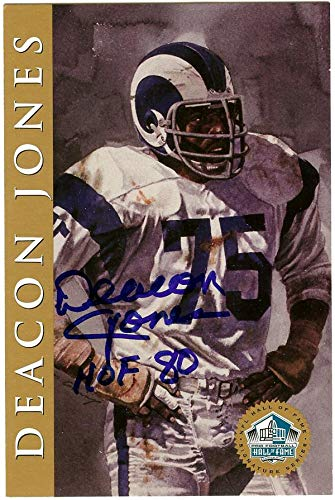 "27143b6eabf Deacon Jones Autographed HOF Signature Series Card Los Angeles  Rams""HOF '80"" #"