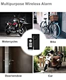 Wsdcam Wireless Vibration Alarm with Remote Control Anti-Theft Alarm Bike/Motorcycle/Vehicle Security Alarm, 110db Loud, Door and Window Alarm