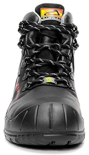 Elten Renzo Biomex GTX S3CI Uomo Scarpe di sicurezza, scarpe da lavoro, sicurezza schnuerstiefel, certificazione EN ISO 20345: S3CI, punta in acciaio, in Gore-Tex, freddo isolamento, Nero (nero), 50