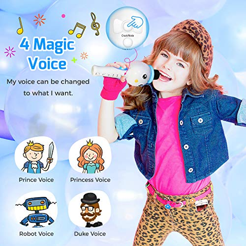 TONOR Kids Microphone, Wireless Portable Karaoke Bluetooth Mic for Kids with Speaker and Colorful Lights for Home Party KTV Birthday Gift Compatible with PC/iPad/iPhone/Android Smartphone by TONOR (Image #2)