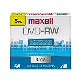 Maxell 5PK DVD-RW 4.7 W/ JC ( 635125 )