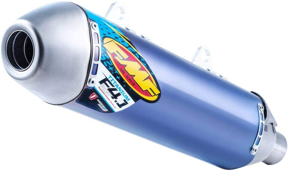 Blue Anodized Titanium with Titanium Mid Pipe for 16-18 KTM 450SXF FMF Factory 4.1 RCT Slip-On Exhaust
