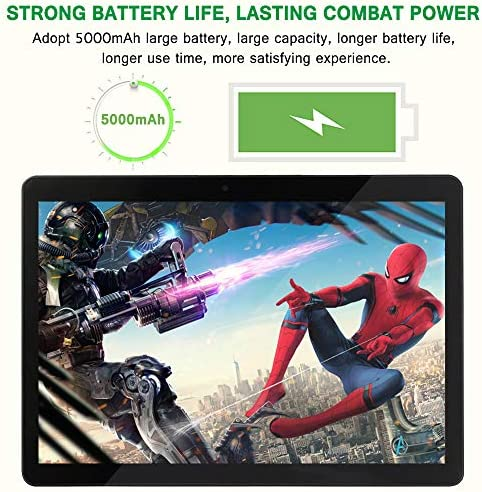 10 inch Android Tablet, 4GB RAM 64GB ROM,Octa-Core Processor with HD Display, 5G-WiFi, Dual Camera,G10