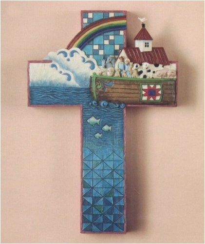 Jim Shore Large Noah's Ark Cross Wall Decor (Heartwood (Noahs Ark Jim Shore)