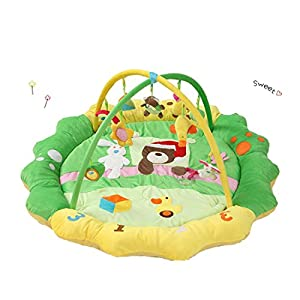 Ann Sang Large Flower Playmat Soft Crawling Mat For Twins (D)