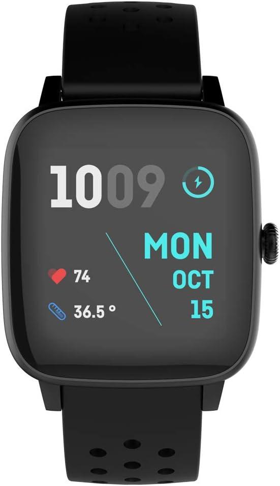 PRIXTON Life Fit - Pulsera de Actividad Reloj Inteligente para Mujer y Hombre con Termometro Pulsometro Registro de Actividad para Fitness Estilo Deportivo Compatible con Android e iOS