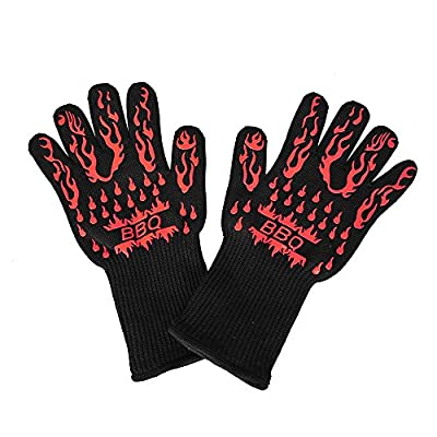 AshleyRiver BBQ Grill Glove Extreme Heat Resistant oven gloves For Cooking, Grilling, Baking-13 inch 1 pair