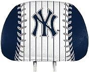 Promark Yankees Printed Full Color Pair Head Rest Covers Elastic Auto Baseball