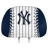 ProMark York Yankees Printed Full Color 2-Pack Head Rest Covers Elastic Auto Baseball