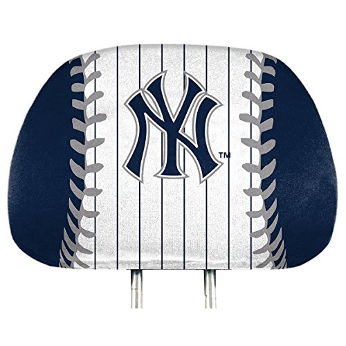 - ProMark York Yankees Printed Full Color 2-Pack Head Rest Covers Elastic Auto Baseball