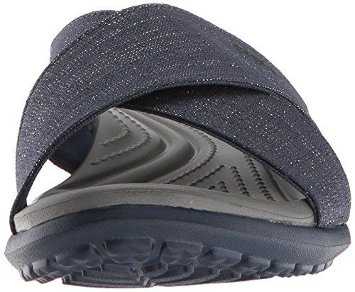 Navy Schwarz Grey crocs Women Xband Capri Damen Blau 4he Sandalen Shimmer Slate 4xwxBf86pq