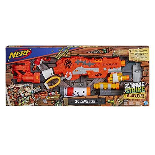 NERF E1754 Ner Zombie Survival System Scravenger (The Best Survival Gun)